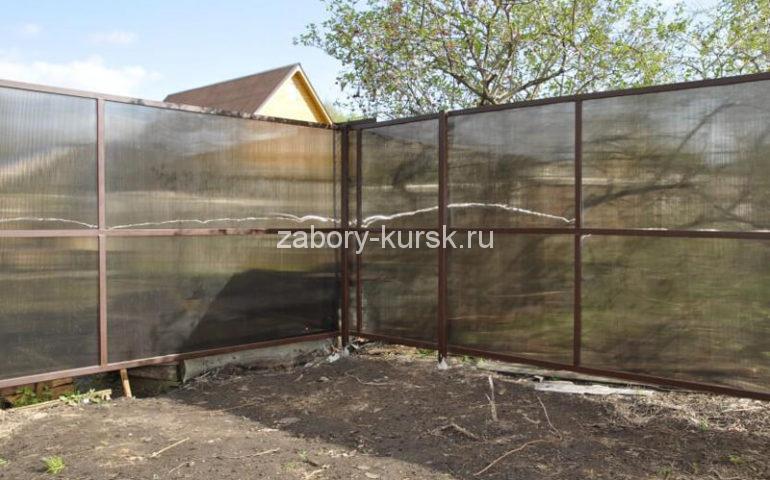 забор из поликарбоната в Курске