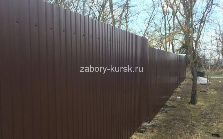 забор из профлиста в Курске